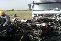 تصادف خودرو 206 با تریلی هوو در اراک چهار کشته بر جا گذاشت