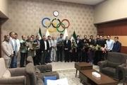 تقدیر از فردوسی پور و برخی خبرنگاران و عکاسان ورزشی در کمیته ملی المپیک+ عکس