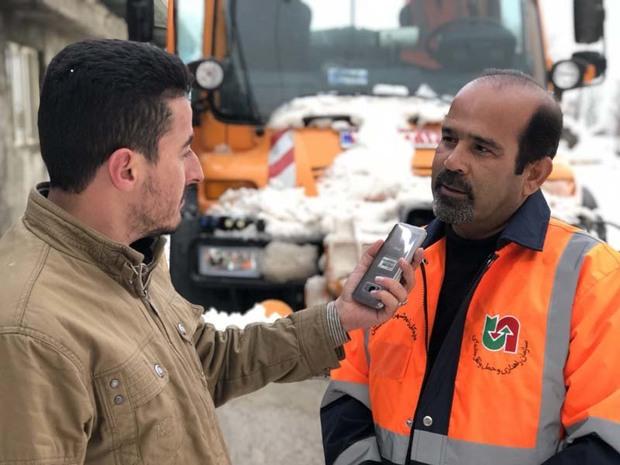 سرنشینان 37 خودروی گرفتار در برف در اندیکا نجات یافتند