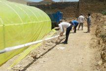 2 واحد گلخانه در شهر هفت چشمه دلفان بهره برداری شد