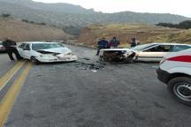 تصادف رانندگی در محور حمیل به اسلام آباد 2 کشته و چهار مصدوم به جای گذاشت