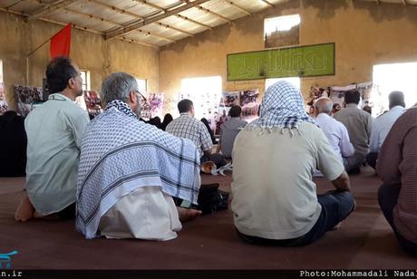 مراسم دعای عرفه در حسینیه گردان تخریب لشکر ظفرمند محمد رسول الله(ص) برگزار شد + تصاویر