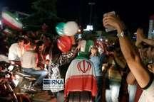تصادف در جشن پیروزی تیم ملی فوتبال در چهارراه جهان کودک تهران 4 مصدوم برجای گذاشت