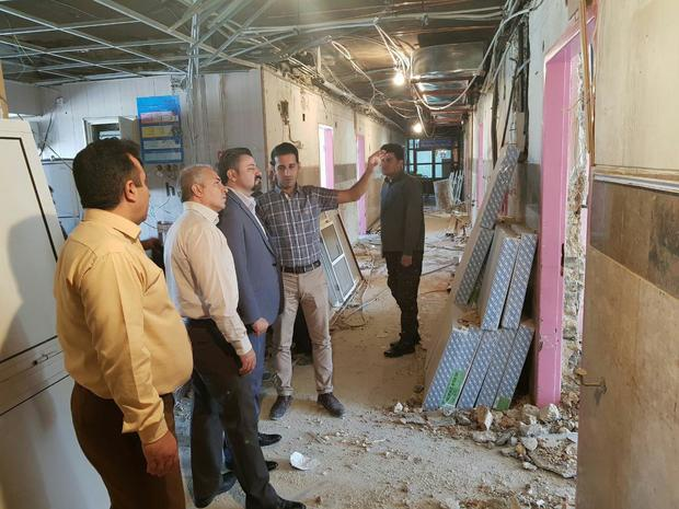 طرح توسعه بیمارستان امام خمینی کرمانشاه در دست اجراست