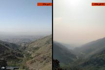 تصویری گویا از اوج آلودگی هوای تهران