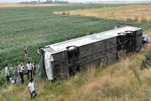 یک کشته در واژگونی اتوبوس محور مرودشت-شیراز