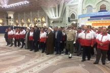 کارکنان هلال احمر با آرمان های امام راحل تجدید میثاق کردند