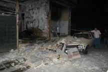 انفجار و آتش سوزی منزل قدیمی در تهران یک مصدوم داشت