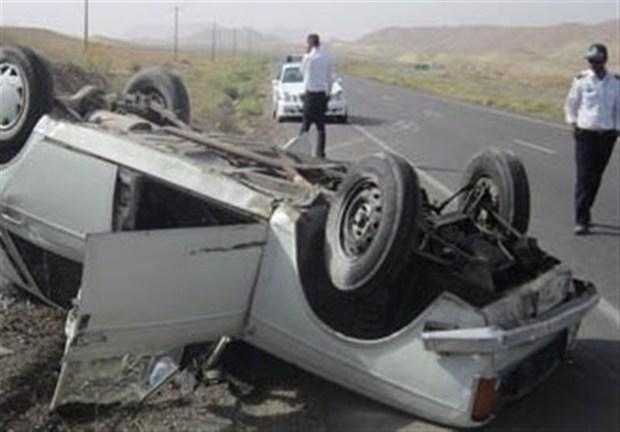 واژگونی خودرو منجر به مرگ راننده در جهرم شد