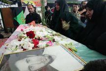 مردم علی آبادکتول پیکرشهید تازه تفحص شده را تشییع کردند