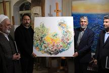 وزیر فرهنگ از گالری شخصی نقاش ارومیه ای بازدید کرد