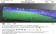 پست جدید مامه تیام در حال تماشای بازی سنگال+ عکس
