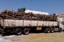 20 تن محموله چوب غیرمجاز در خداآفرین توقیف شد