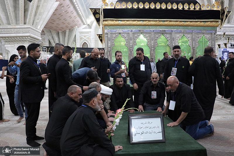 ادای احترام جمعی از موکب داران عراقی نسبت به مقام شامخ حضرت امام(س)