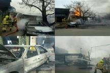یک باب مغازه در قزوین بر اثر انفجار سیلندر گاز ال. پی. جی دچار حادثه شد+ فیلم