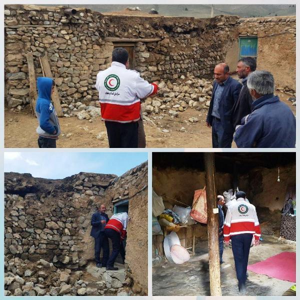 تخریب 2 منزل روستایی دراثر بارش شدید باران در سلماس