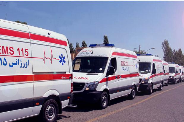 ناوگان آمبولانس اورژانس مشهد در خدمت عزارادان حسینی