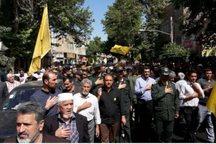 پیکر شهید مدافع حرم در پیشوا تشییع شد