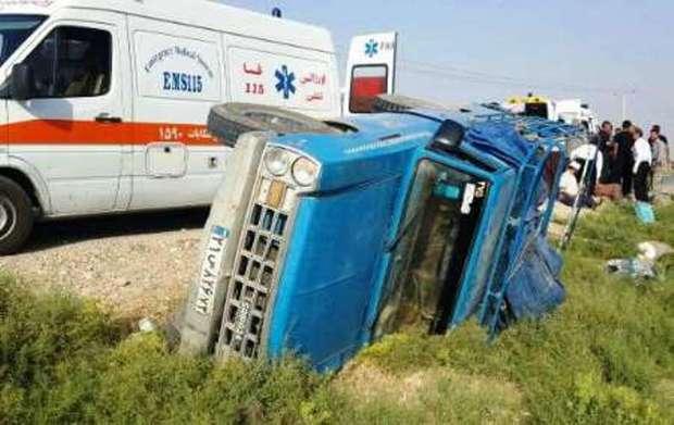 واژگونی وانت حامل کارگران در دزفول هفت مصدوم برجا گذاشت