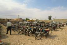 814 دستگاه انواع خودرو و موتورسیکلت متخلف در جاجرم توقیف شد