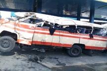 واژگونی مینی بوس در شهرری 18 مصدوم بر جای گذاشت