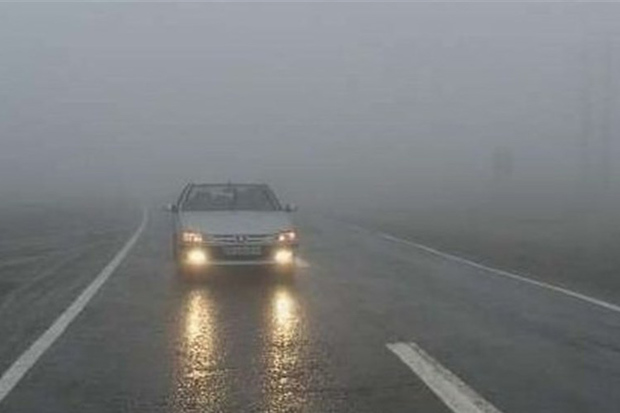 گردنه های کوهستانی شمالی زنجان را مه غلیظ فرا گرفته است