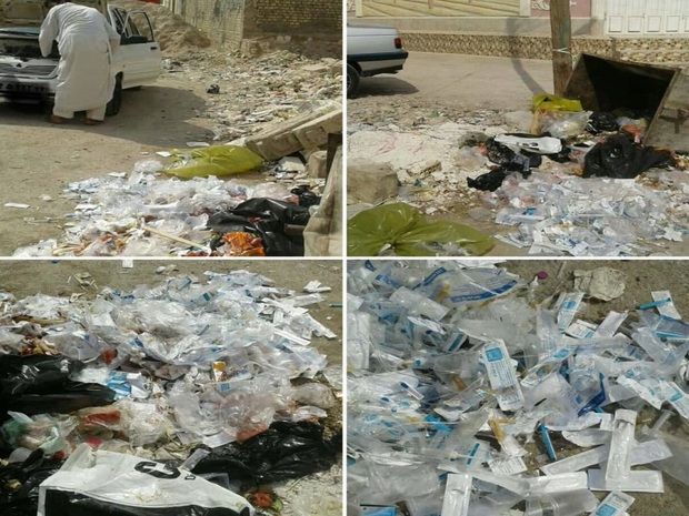 تخلیه زباله های عفونی در شادگان موجب نگرانی شهروندان شده است