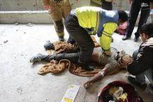 سقوط کارگر ساختمانی از طبقه هفتم در قزوین