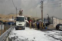 تانکر 20 هزار لیتری بنزین در شهران تهران دچار نشت شد