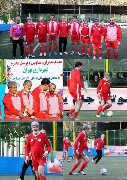 علی مطهری و مسعود پزشکیان در حال بازی فوتبال! + عکس