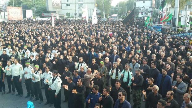 اجتماع بزرگ عزاداران حسینی در آمل برگزار شد