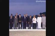 عکس یادگاری رهبران جهان در اجلاس جی7 در بیاریتز فرانسه