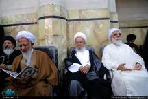 تصویری از آیات عظام جوادی آملی و مکارم شیرازی در کنار هم + عکس