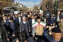 حضور انقلابی و پرشور مردم همدان در راهپیمایی ۲۲ بهمن