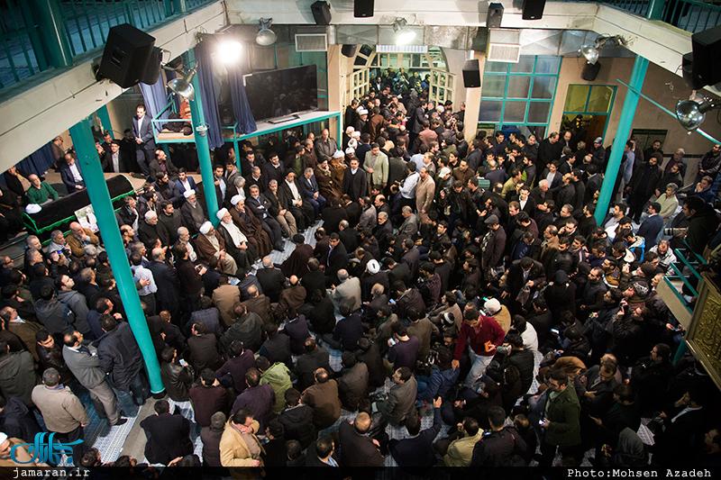 مراسم وداع با پیکر آیت الله هاشمی رفسنجانی(ره) در حسینیه جماران-3