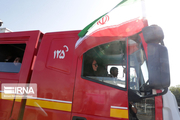 تیم واکنش سریع آتش نشانی اهواز در جاده حمیدیه مستقر شد