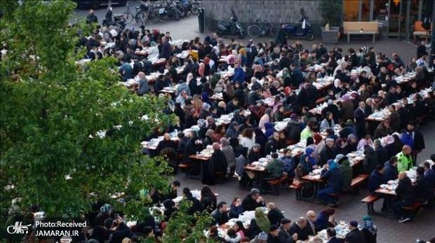 تصاویر/ سفره افطاری با حضور مقامات هلندی