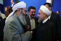 مولوی عبدالحمید: مردم فردی شجاع و صادق را انتخاب کردند/ برادران اهل سنت شما به عزت اسلام و ایران فکر میکنند