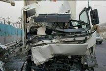 تصادف 2 خودروی سنگین درتهران یک کشته داشت
