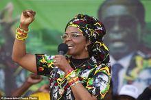 گیس و گیس کشی همسر موگابه+ تصاویر