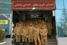 اهدای خون 70 تن از نیروهای ارتش در قزوین به مناسبت دهه فجر