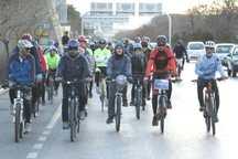 دوچرخه سواران مشهد روز هوای پاک را گرامی داشتند