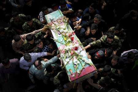 پیکر شهید دفاع مقدس در رفسنجان تشییع شد