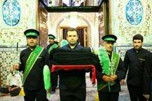 آستان شاهزاده حسین (ع) در قزوین سیاه پوش شد