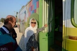 """تمجید """"ماریا دوتسنکو """" نماینده سازمان ملل از اتوبوس آموزشی """"شهرمون"""""""