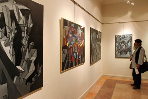 برپایی نمایشگاه نقاشی به نفع زلزله زدگان کرمانشاه