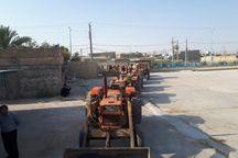 طرح پلاک گذاری ماشین آلات کشاورزی در شهرستان لالی آغاز شد
