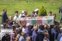 پیکر جانباز شهید دوران دفاع مقدس در شهرری تشییع شد