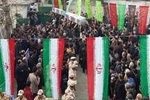 تشییع پیکر دو شهید گمنام در تولمشهر صومعه سرا