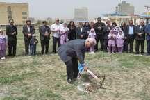 کلنگ زنی اولین مدرسه خیرساز آذربایجان شرقی در سالجاری در مراغه